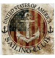newport sailing club artwork vector image vector image