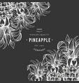 pineapples and tropical leaves design template vector image vector image