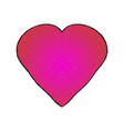 pink heart two-color gradient with texture vector image vector image
