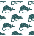 rat or mouse seamless pattern background vector image vector image