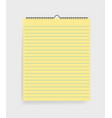 realistic notebook with lines in mockup style vector image vector image