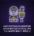 reggae music neon light icon vector image