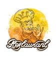 restaurant logo design template cook chef vector image vector image