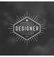 Retro Vintage Insignia Logotype vector image