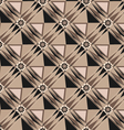rhombus geometric techno pattern background vector image