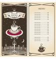 royal menu vector image vector image