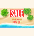sale get up to 30 percent discount seashore with vector image vector image