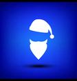 Santa white on blue vector image vector image