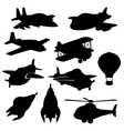 set isolated plane icons vector image
