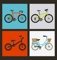 set of the different bicycles sport transport vector image vector image