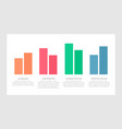 set orange and red blue green elements for vector image vector image