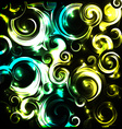 Shiny cosmic curls background vector image vector image