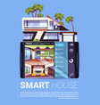 smart house interface on digital tablet modern vector image