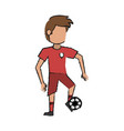 soccer player design vector image vector image