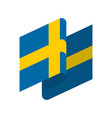 sweden flag isolated swedish ribbon banner state vector image vector image