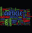 the power of articles text background word cloud vector image vector image
