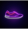 trainers neon sign stylish footwear design vector image vector image