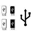 Usb set vector image