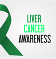 world liver cancer day awareness poster eps10 vector image vector image