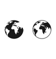 world map globe earth earth globe world map in vector image vector image