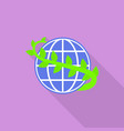 world plant day icon flat style vector image vector image