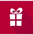 3d Gift Box on bright red background vector image