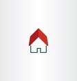 house logo real estate symbol element vector image