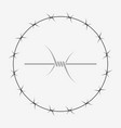 barbed wire of circle shape vector image