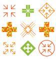 arrow cross signs vector image