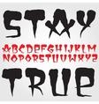 Old school hardcore font vector image