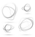 abstract dotted orbit swirl abstract patterns vector image vector image