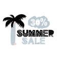 advert card with lettering 30 summer sale in vector image