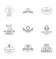 alternative power logo set simple style vector image vector image
