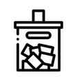 ballot box icon outline