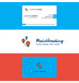 beautiful map route logo and business card vector image