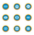 best possible icons set flat style vector image