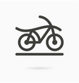 bicycle - icon vector image