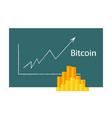 bitcoin crypto currency stick graph chart of stock vector image vector image