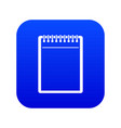blank spiral notepad icon digital blue vector image