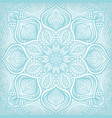 blue lace floral pattern background vector image vector image