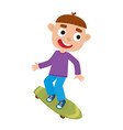 boy on skateboard in vector image