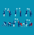 business people character set concept business vector image