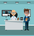 businessman and doctor vector image