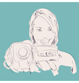 camera girl vector image vector image