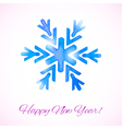Card with watercolor snowflake vector image vector image