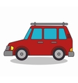 cart vehicle isolated icon vector image