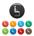 chair icons set color vector image vector image