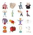 Circus show icons cartoon collection vector image vector image