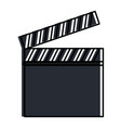 clapper board isolated icon vector image vector image