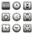 clock and time symbols vector image